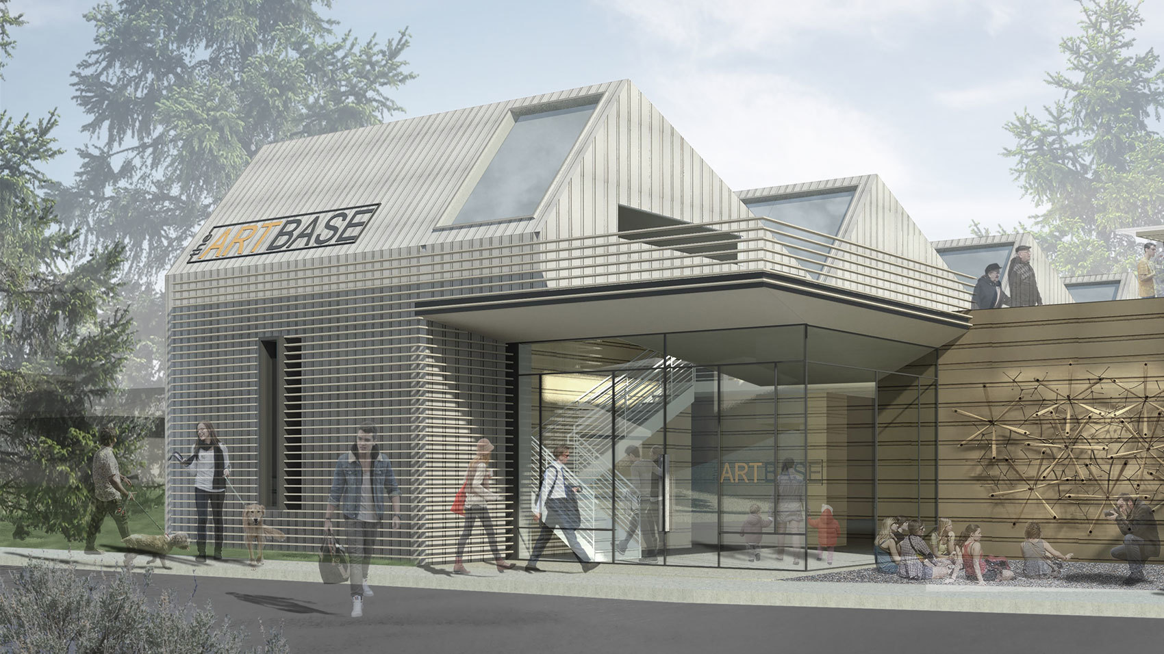 Conceptual design for The Art Base in Basalt, Colorado