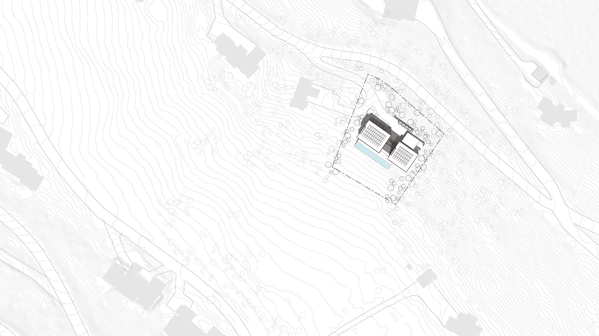 CCY Architects Pavilion site plan with PV