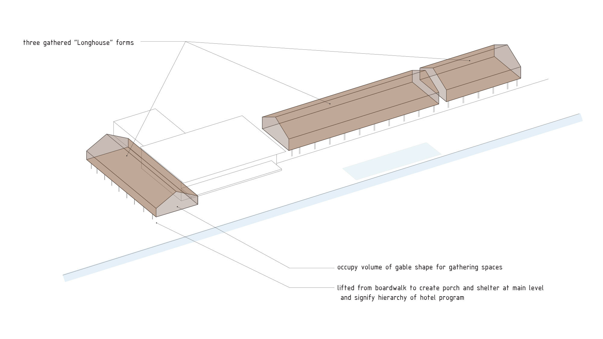 CCY Architects Coral Mountain Long House Diagram