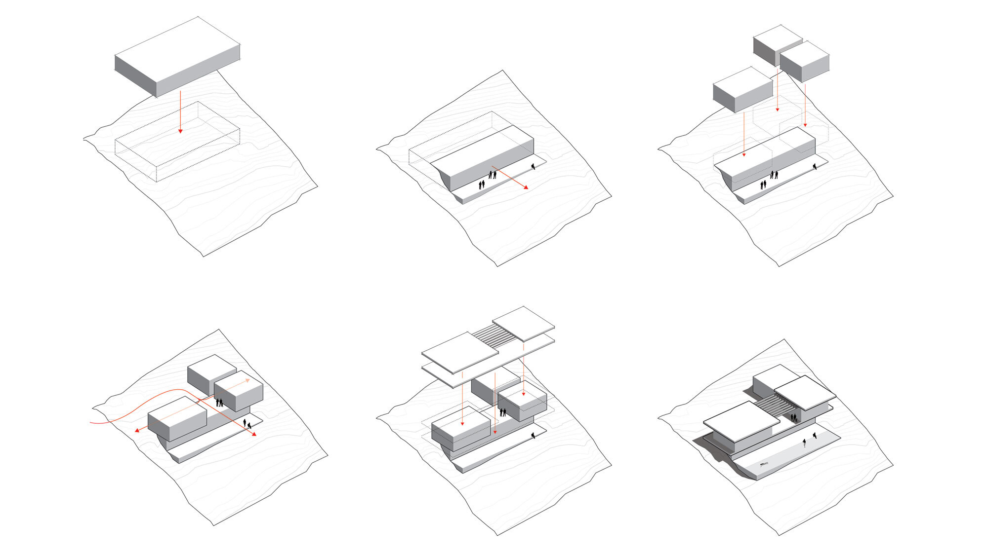 CCY Architects Pavilion House Working Diagrams