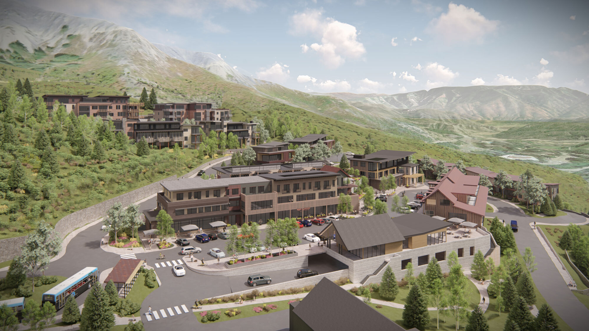 CCY Architects Snowmass Center Birds Eye