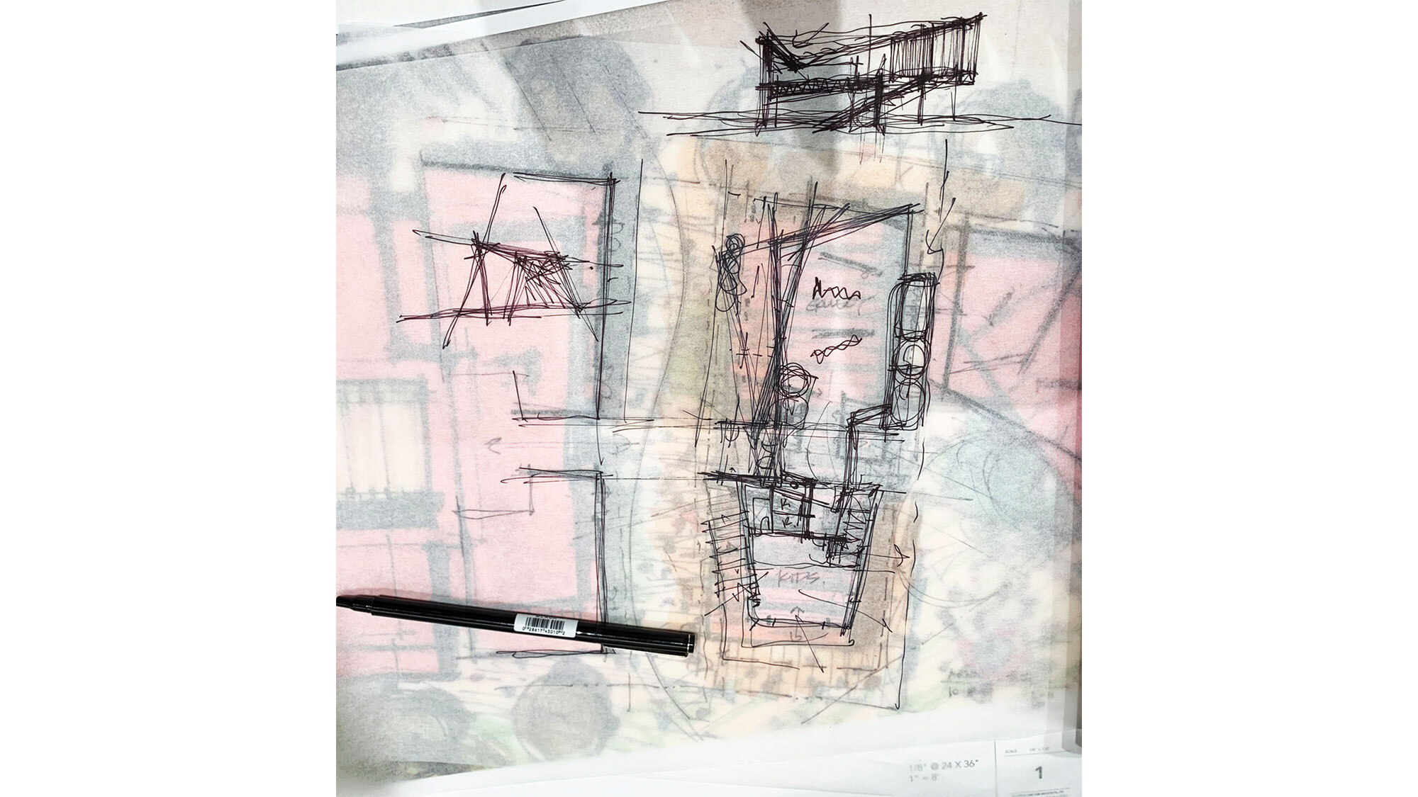 CCY Architects The Art Base plan sketch