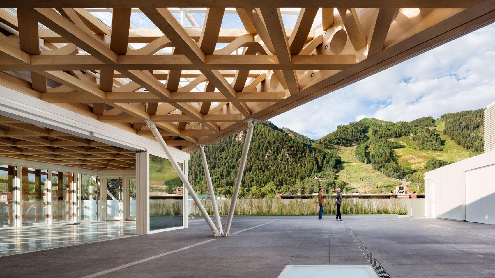 Aspen Art Museum rooftop patio