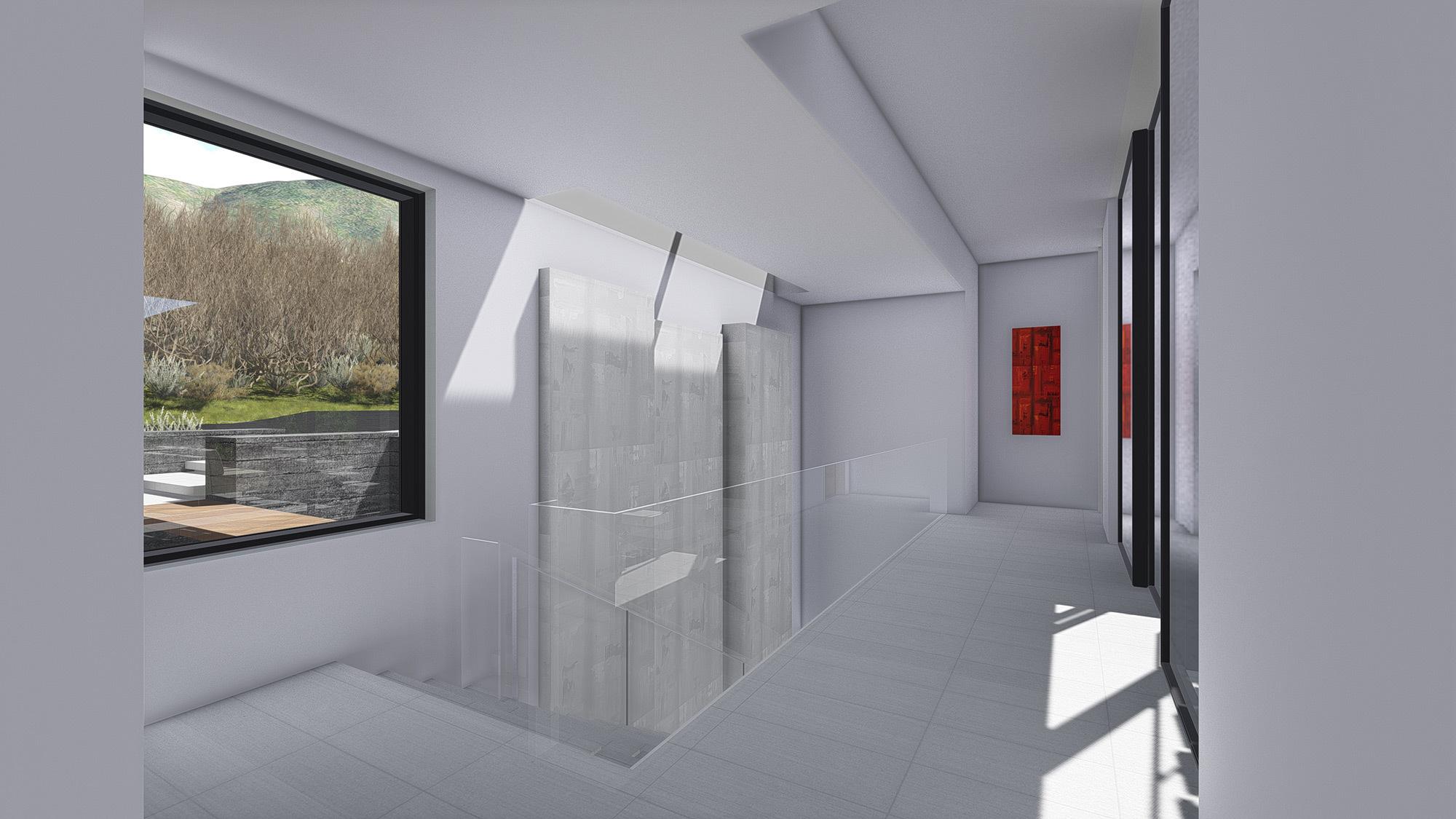 White Stone Stair Interior