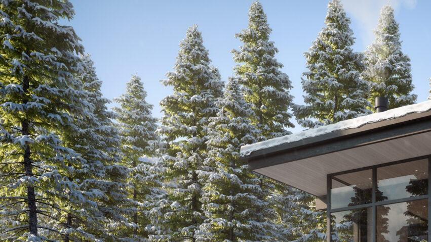 Ccy Architects Ulerys Lake Cabin Winter Thumbnail 3